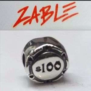 S925 Sterling Silver High Roller Poker Chip Charm